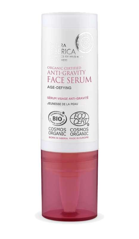 Sérum visage anti-gravité jeunesse de la peau à la Cladonia des Neiges BIO, Natura Siberica (15 ml)