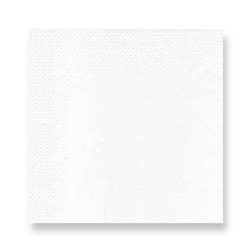 100 serviettes en papier blanches (33x33)