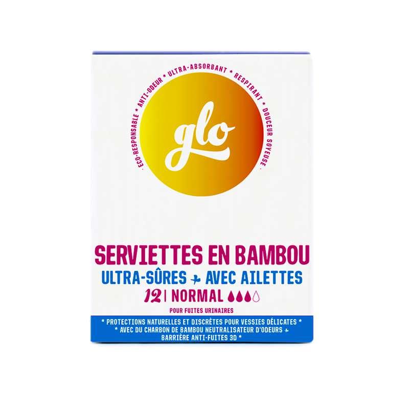 Serviettes anti-fuites en bambou, Glo (x 12)