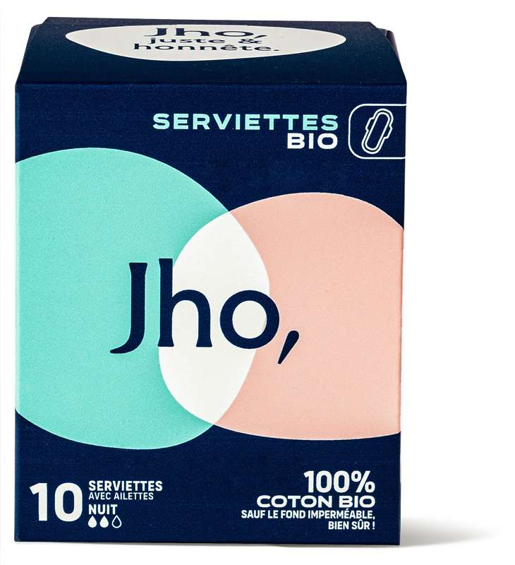 Serviettes hygiéniques Nuit, JHO (x 10)