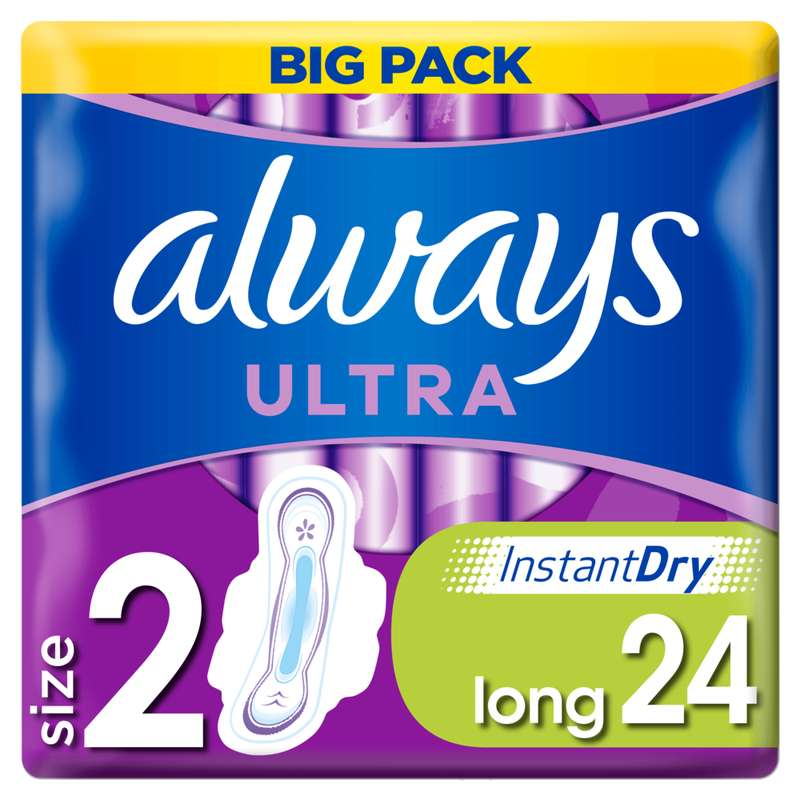Serviettes Ultra Long Plus T2, Always (x 24)