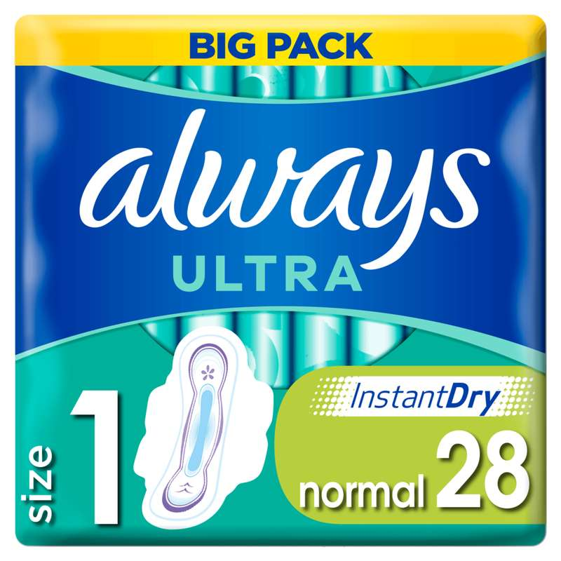 Serviettes Ultra Normal Plus T1, Always (x 28)