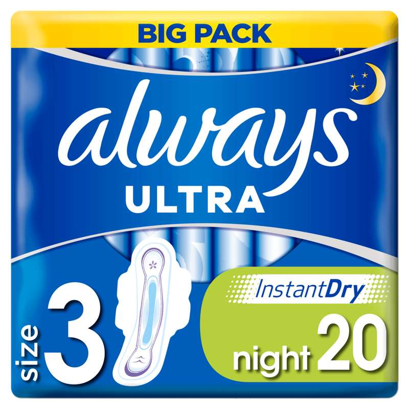Serviettes Ultra Nuit T3, Always (x 20)