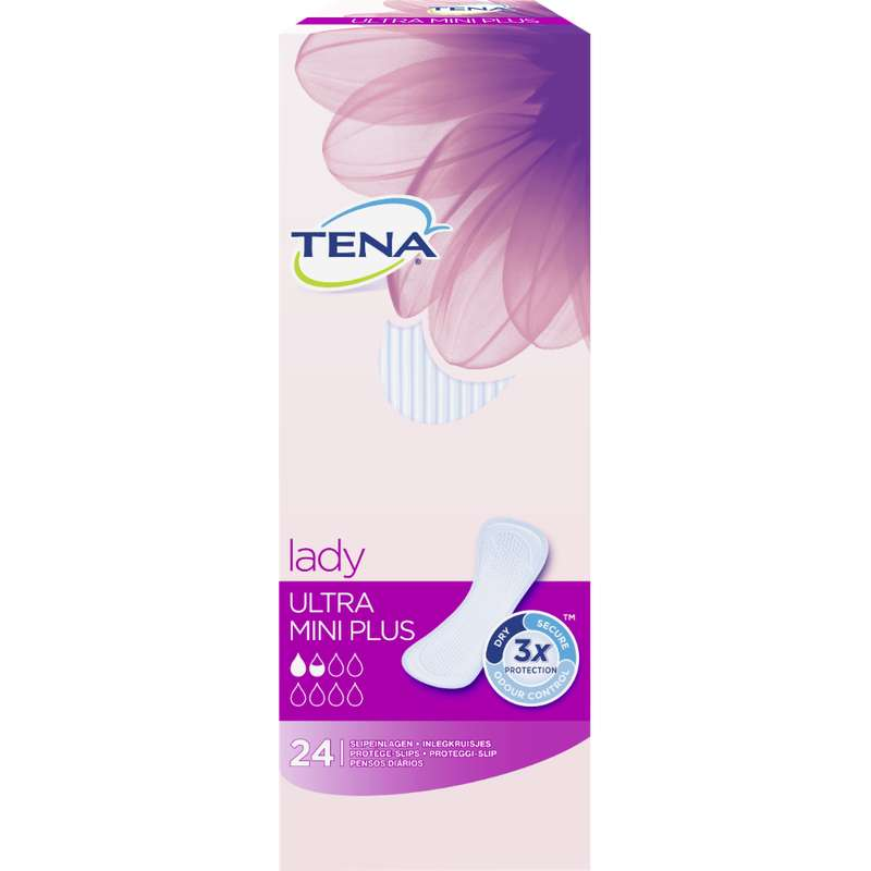 Serviettes pour incontinence ultra mini plus, Tena Lady (x 24)