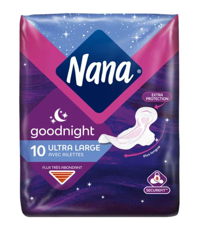 Serviettes Ultra Goodnight, Nana (x 10)