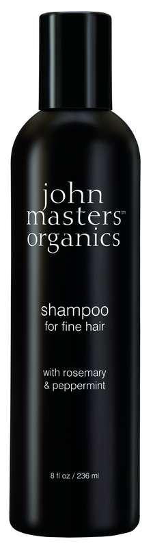 Shampoing cheveux fins au romarin et à la menthe poivrée, John Masters Organics (236 ml)