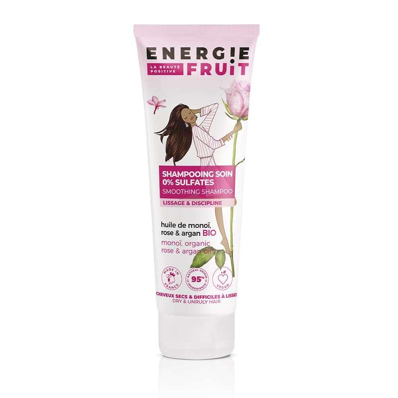 Shampoing cheveux secs et rebelles Monoi rose et Huile d'argan, Energie Fruit (250 ml)