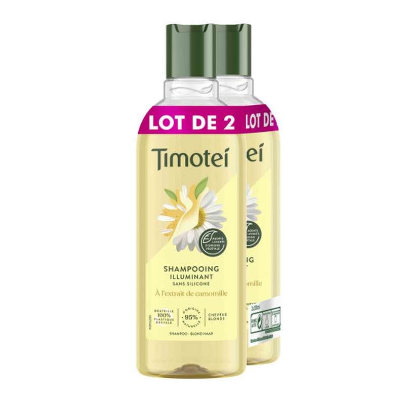Shampoing illuminant sans silicone à l'extrait de camomille, Timotei  (2 x 300 ml)