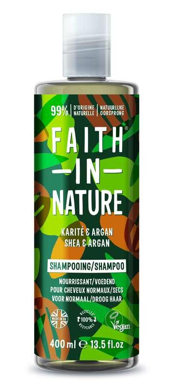 Shampoing Karité & Argan, Faith In Nature (400 ml)