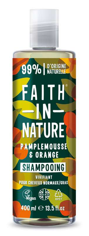 Shampoing Pamplemousse & Orange, Faith In Nature (400 ml)