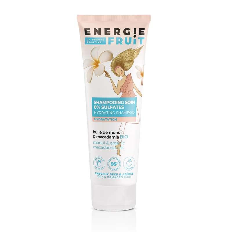 Shampoing pour cheveux abîmés Monoi et huile de Macadamia, Energie Fruit (250ml)