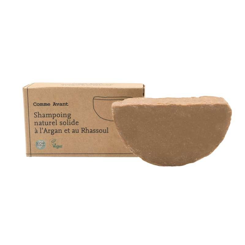 Shampoing solide à l'huile d'Argan et au Rhassoul vegan BIO, Comme Avant (70 g)