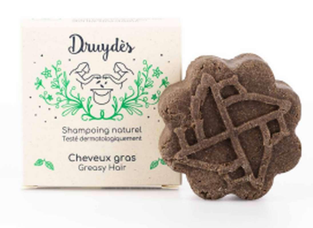 Shampoing solide cheveux gras BIO, Druydès (70 g)
