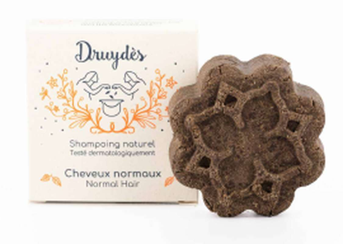 Shampoing solide cheveux normaux BIO, Druydès (70 g)