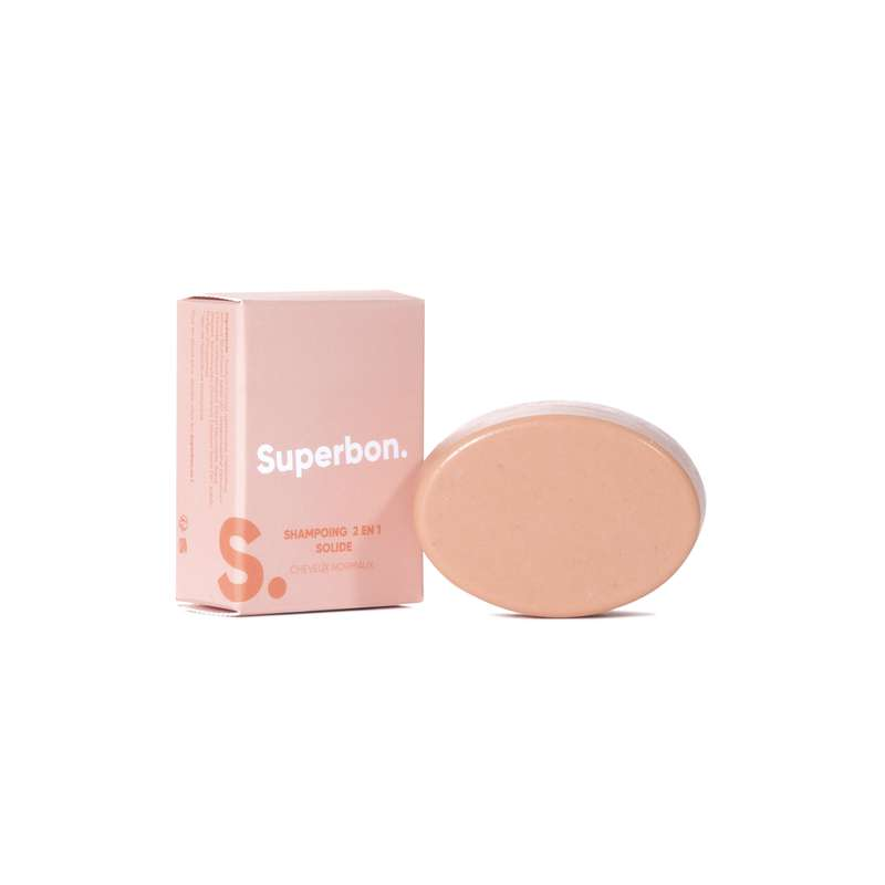 Shampoing solide cheveux normaux, Superbon (70 g)