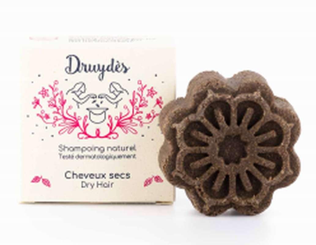 Shampoing solide cheveux secs BIO, Druydès (70 g)