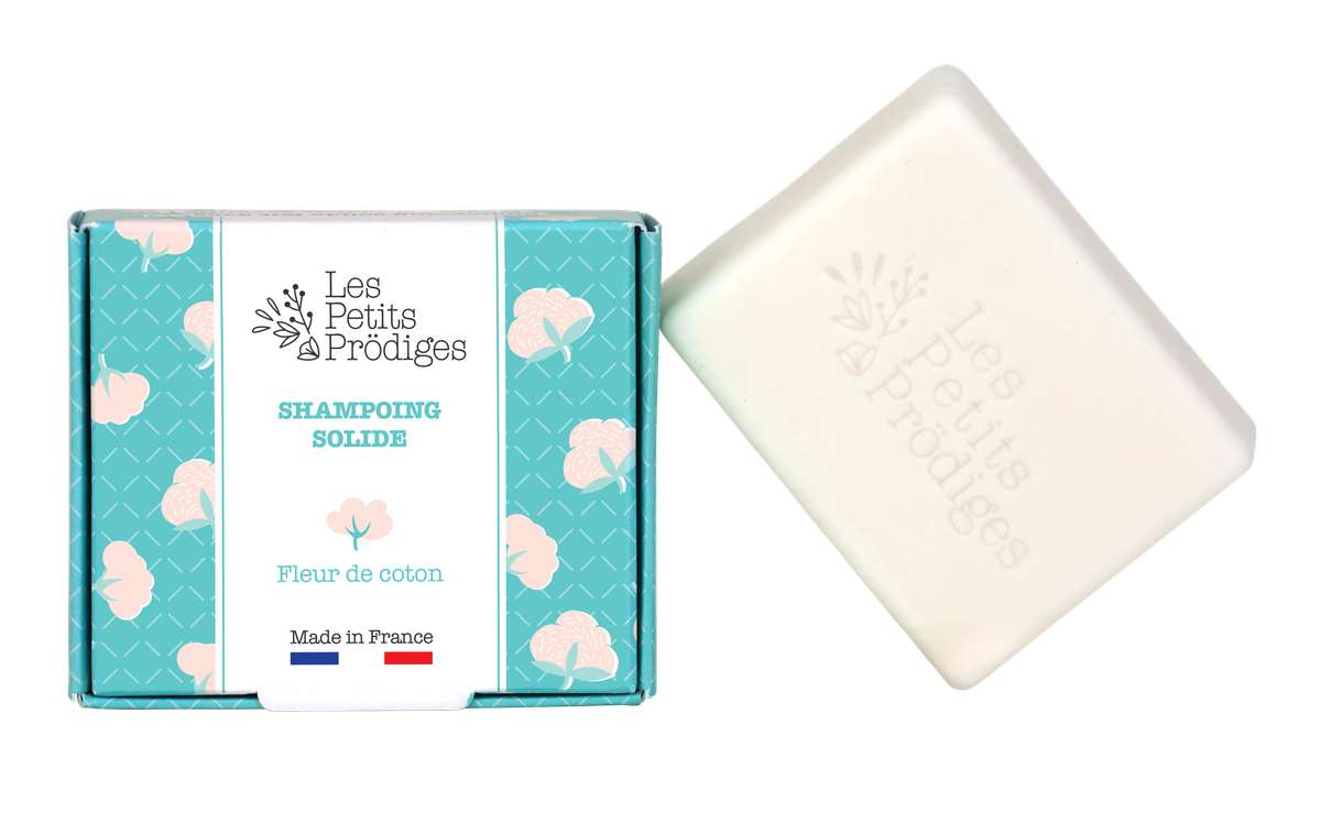 Shampoing solide Fleur de Coton, Les Petits Prödiges (80 g)