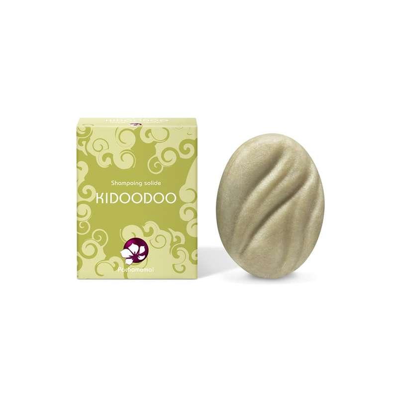 Shampoing solide pour cheveux fins, frisés ou crépus Kidoodoo, Pachamamaï (65 g)