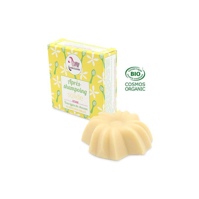 Après-shampoing solide tout cheveux à la vanille BIO, Lamazuna (74 ml)