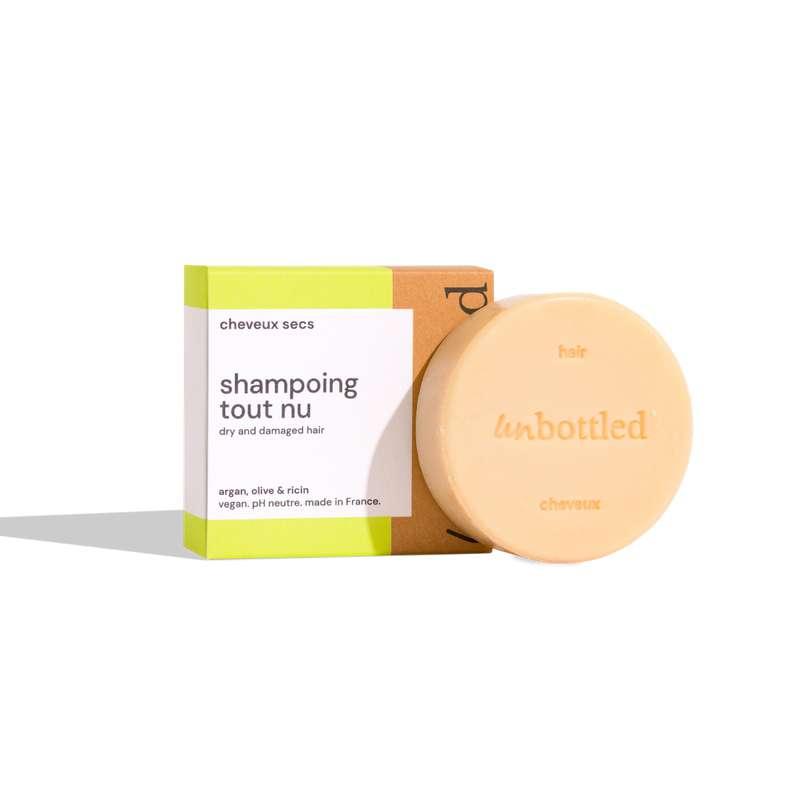 Shampoing solide tout nu - cheveux secs & abîmés, Unbottled (75 g)