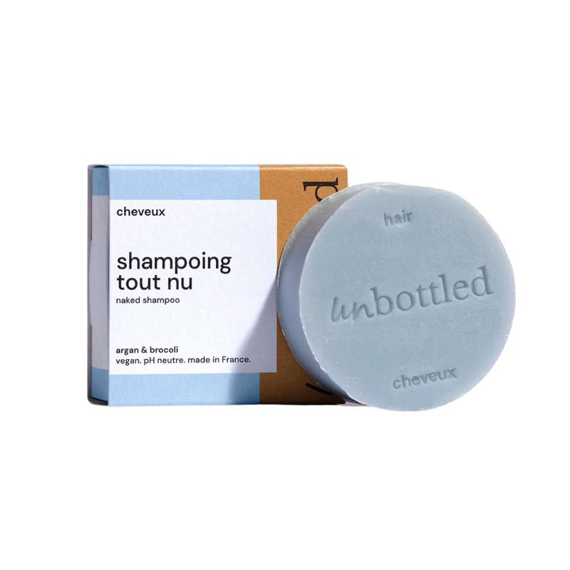Shampoing solide tout nu, Unbottled (75 g)