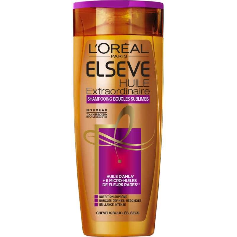 Shampooing curl nutrition cheveux secs boucles sublimes, Elsève (250 ml)