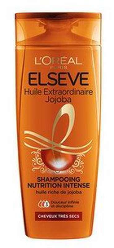 Shampooing nutrition intense à l'huile extraordinaire de jojoba, Elsève (250 ml)