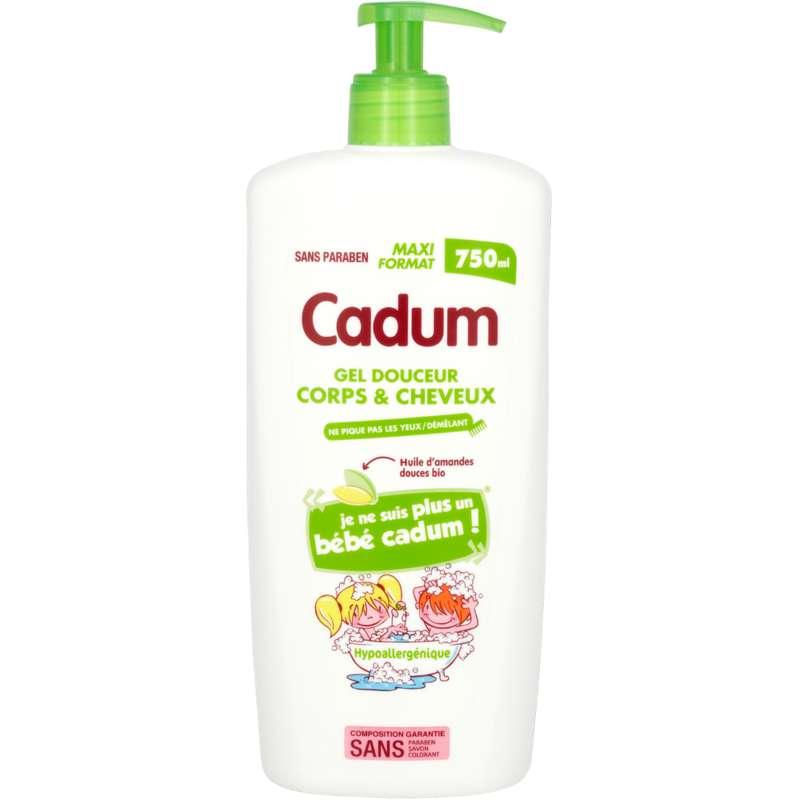 Shampooing douche enfant amande douce, Cadum (750 ml)
