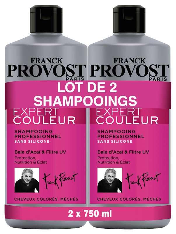 Shampooing professionnel expert couleur, Franck Provost LOT DE 2 (2 x 750 ml)