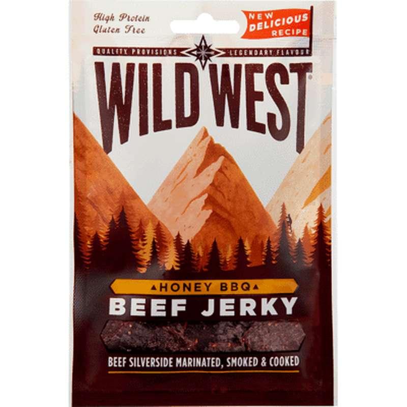 Viande de boeuf séchée miel-barbecue - Beef Jerky, Wild West (25 g)