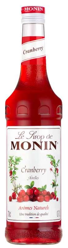 Sirop d'Airelles (cranberry), Monin (70 cl)