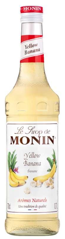 Sirop de Banane Jaune, Monin (70 cl)