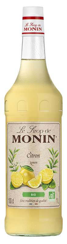 Sirop de Citron BIO, Monin (1 L)