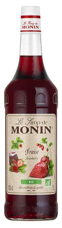 Sirop de Fraise BIO, Monin (1 L)