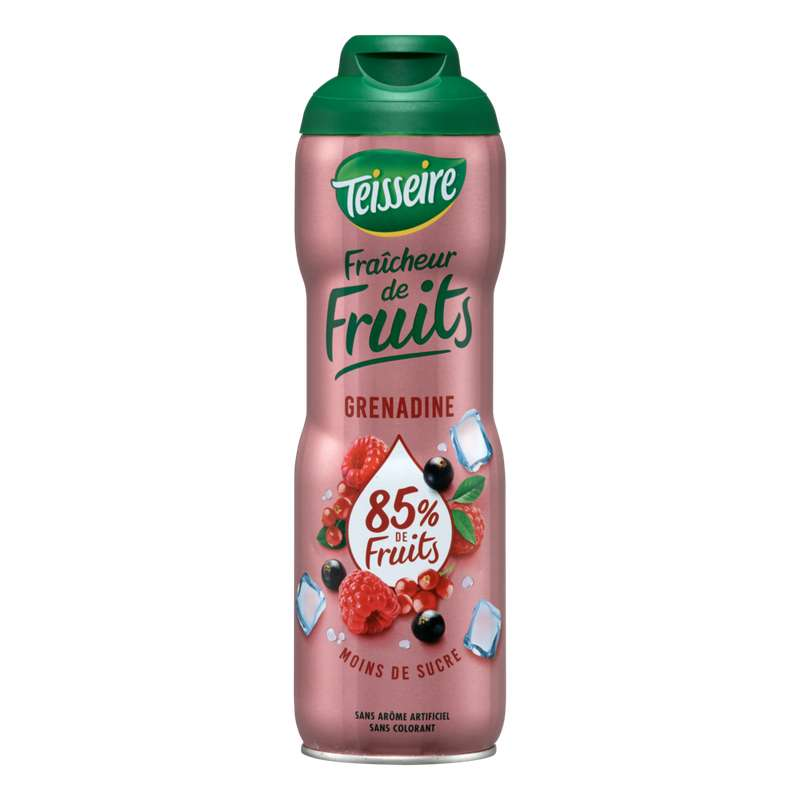 Sirop fraicheur de fruits grenadine, Teisseire (60 cl)
