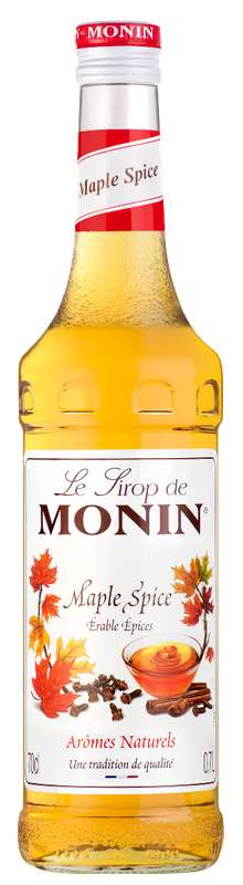 Sirop Maple Spice (érable et épices), Monin (70 cl)