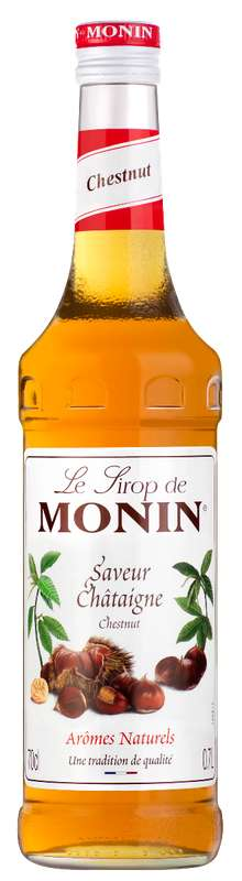 Sirop saveur Châtaigne, Monin (70 cl)