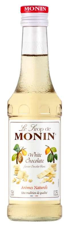Sirop saveur Chocolat Blanc, Monin (25 cl)