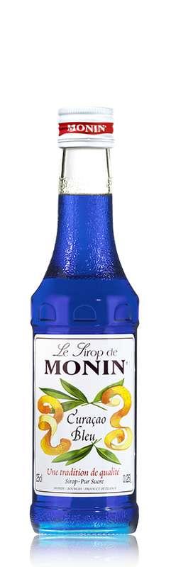 Sirop saveur Curaçao Bleu, Monin (25 cl)