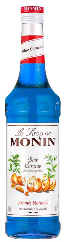 Sirop saveur Curaçao Bleu, Monin (70 cl)
