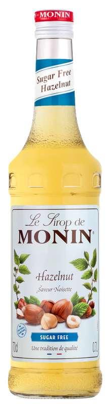 Sirop saveur Noisette (sans sucre), Monin (70 cl)