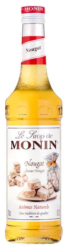 Sirop saveur Nougat, Monin (70 cl)