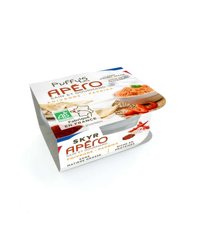 Skyr apéritif poivron et paprika BIO, Puffy's (130 g)