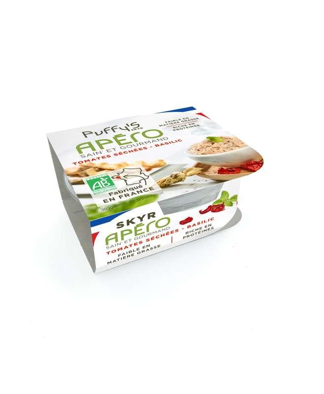 Skyr apéritif tomates séchées et basilic BIO, Puffy's (130 g)