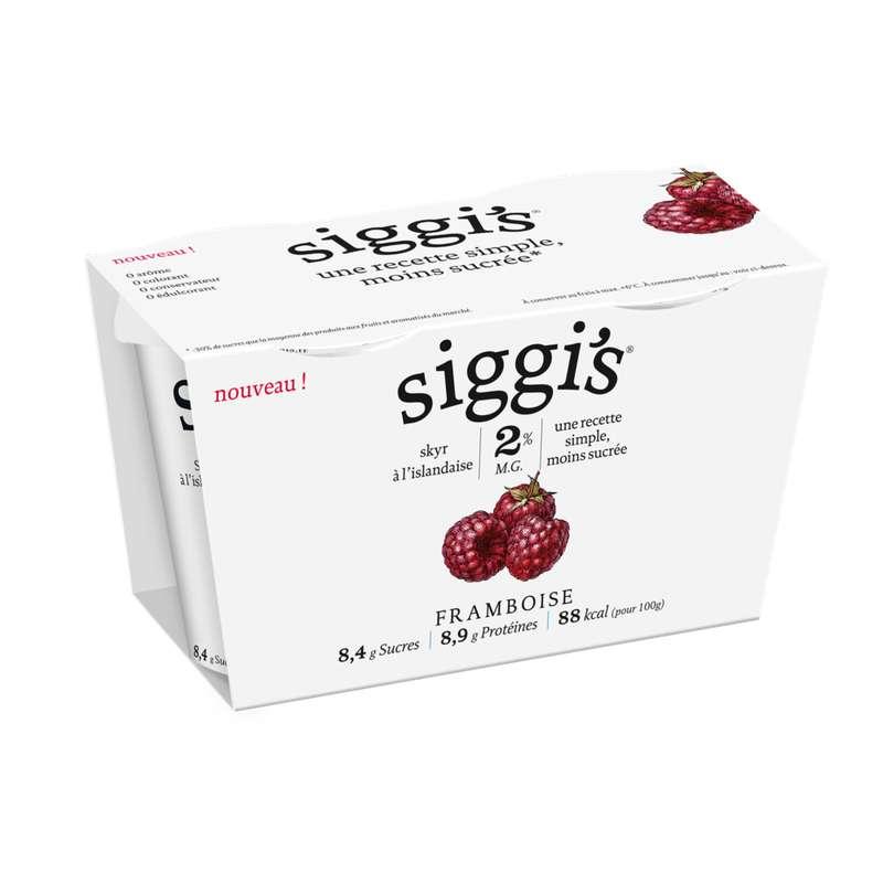 Skyr framboise Siggi's (2 x 140 g)