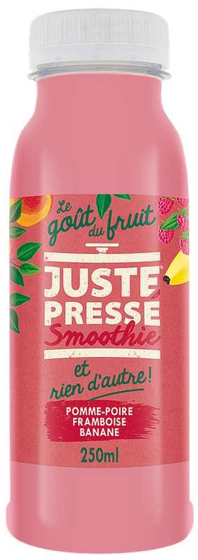 Smoothies Pomme, Poire et Framboise, Juste Pressé (25 cl)