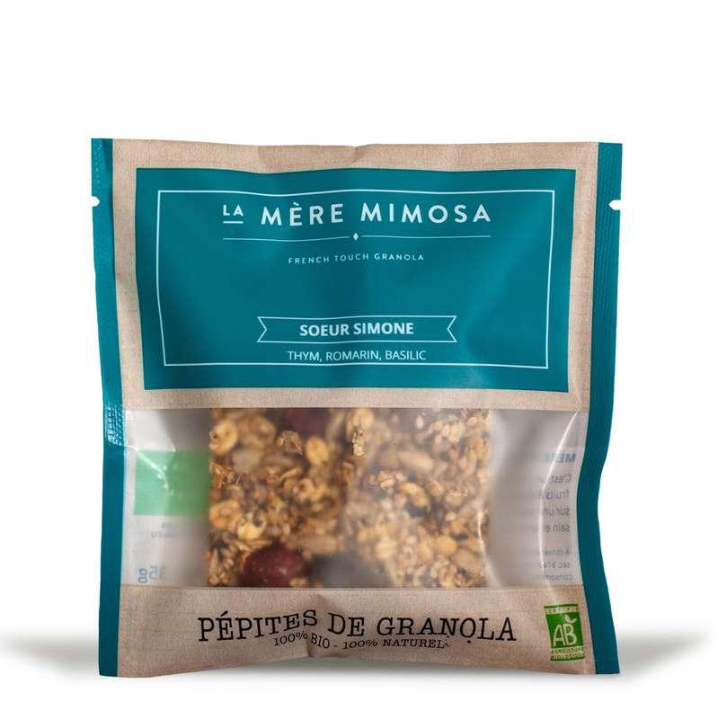 """Snack salé de granola artisanal """"Soeur Simone"""" BIO, La Mère Mimosa (35 g)"""
