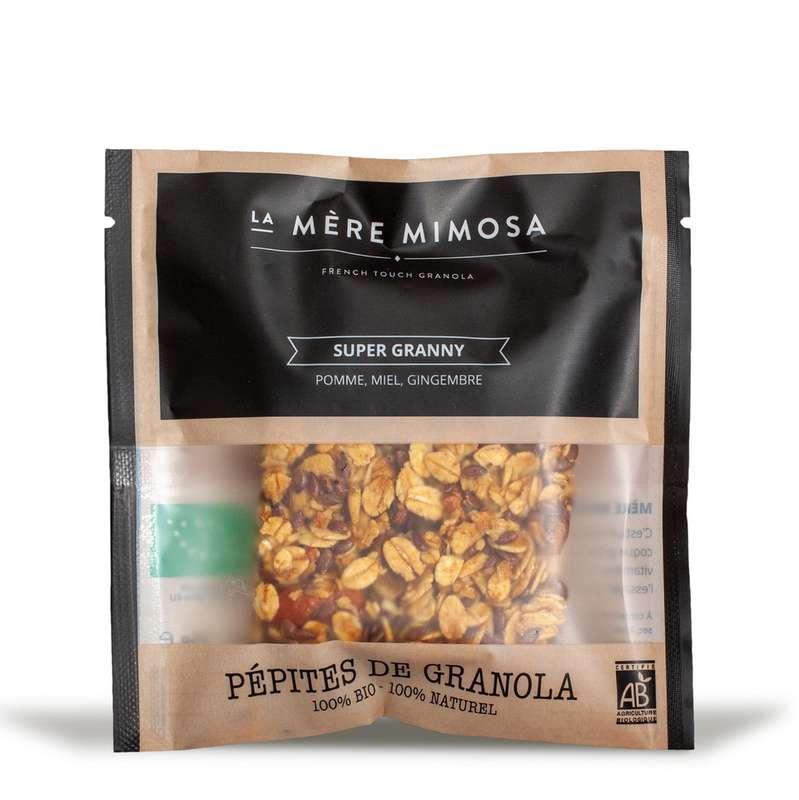 """Snack de granola artisanal """"Super Granny"""" BIO, La Mère Mimosa (35 g)"""