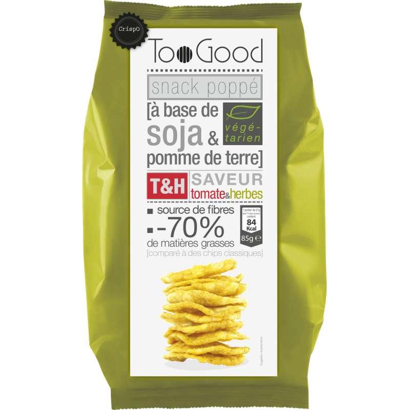 Snack poppé soja & PDT saveur tomate et herbes, Too Good (85 g)