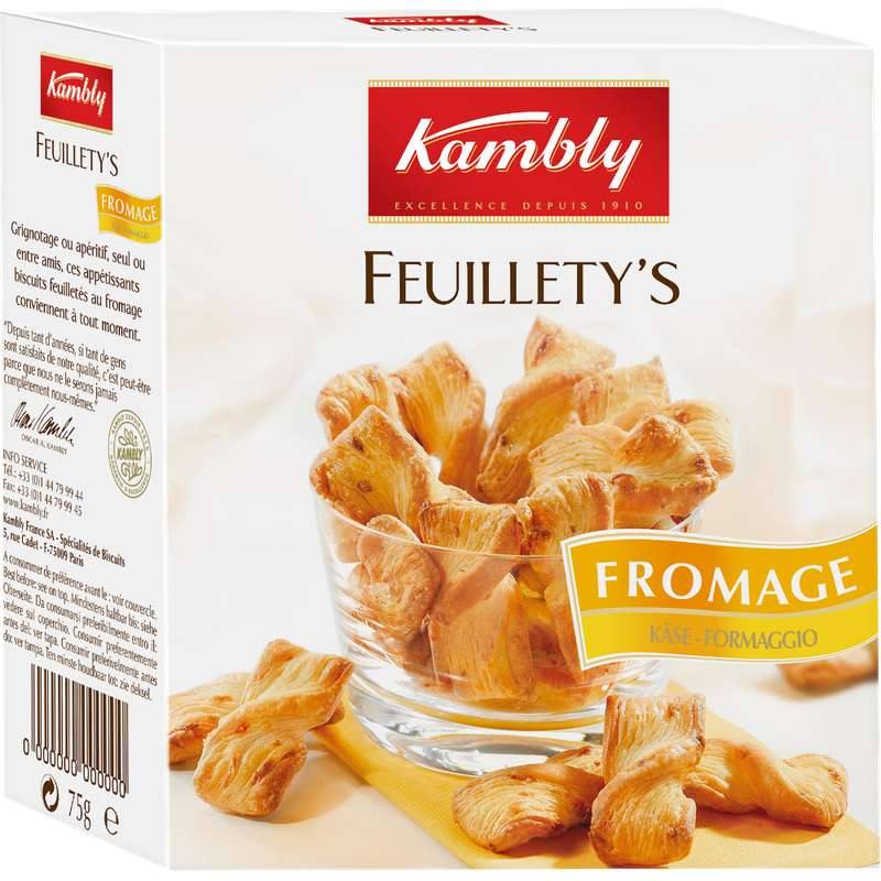 Feuillety's au fromage, Kambly (75 g)